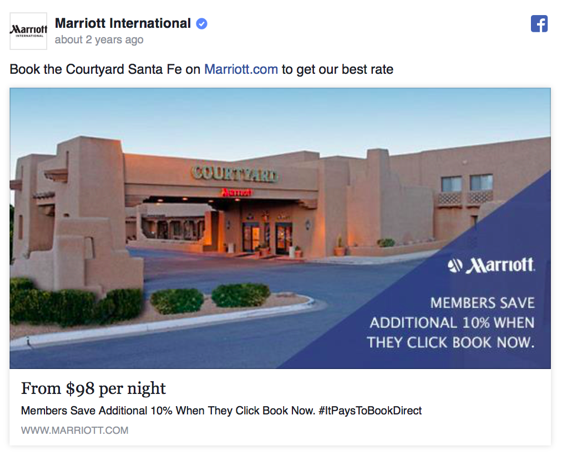 Facebook Ad for Hotel