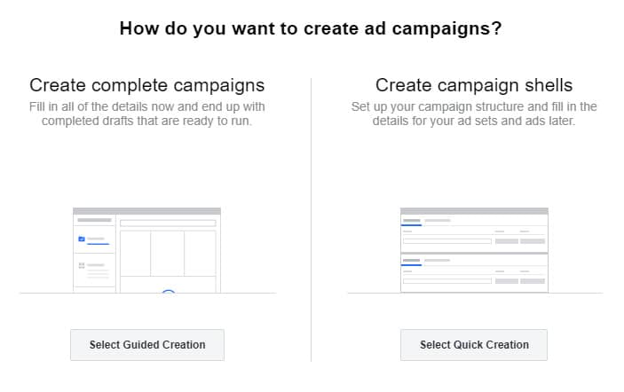 how do you want to create ad campaigns