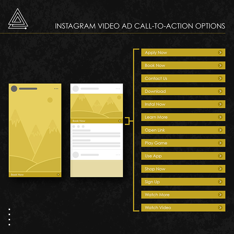 Instagram video ad call to action options